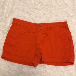 Orange Chino Shorts